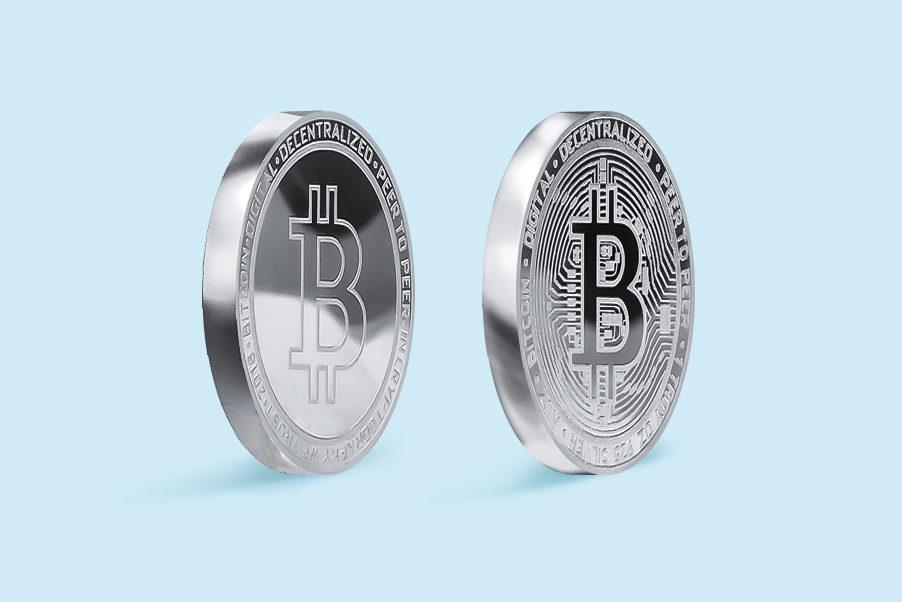 Купить серебряную монету биткоин
